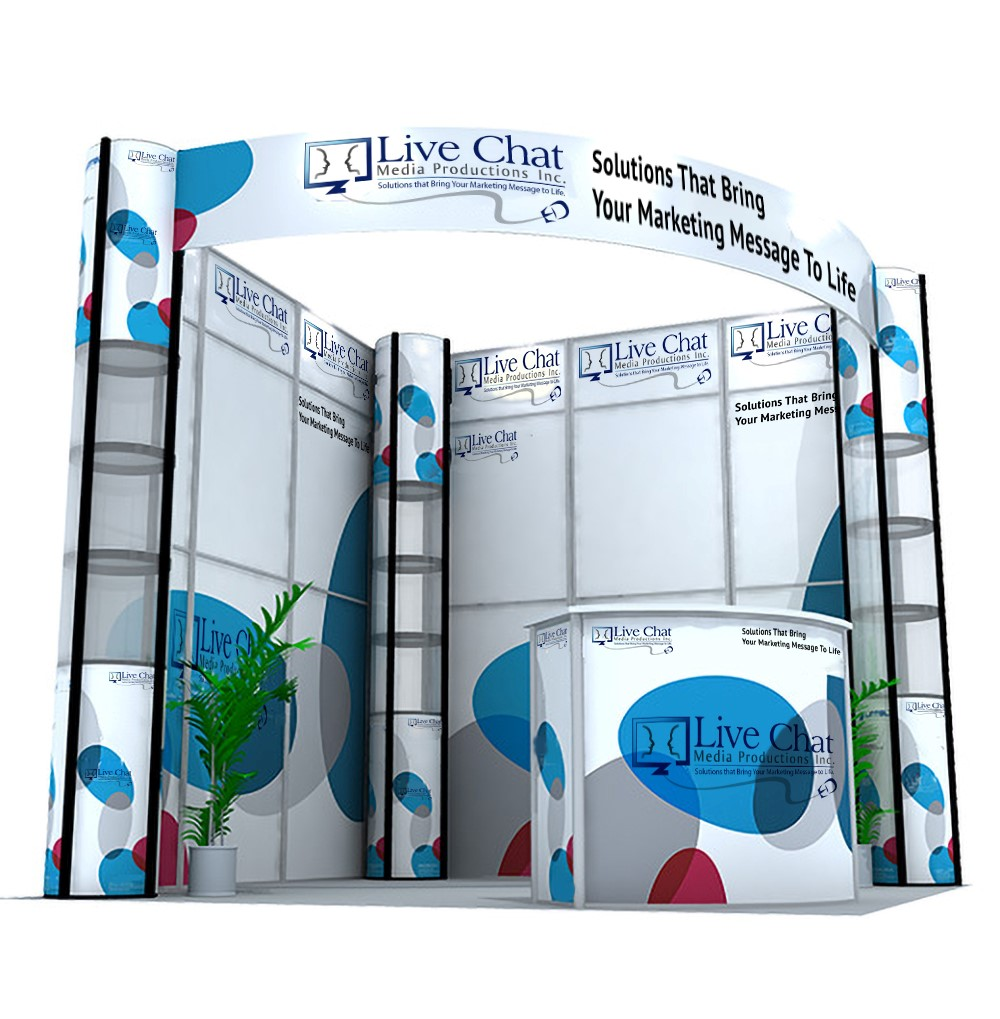 Back Wall Display Stand Live Chat Media