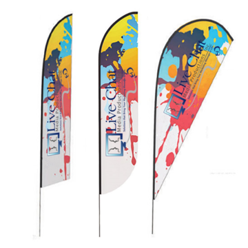 curved advertising flags